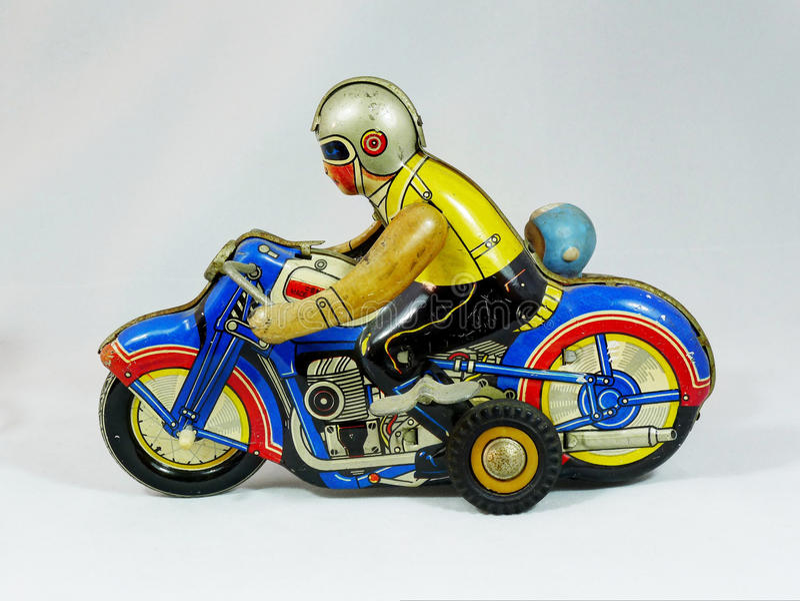 Zinnspielzeug Motorrad stockfotografie