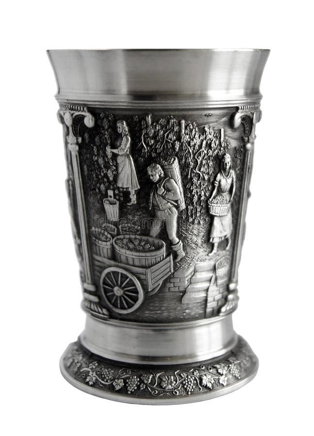 Zinnweinbecher lizenzfreies stockfoto