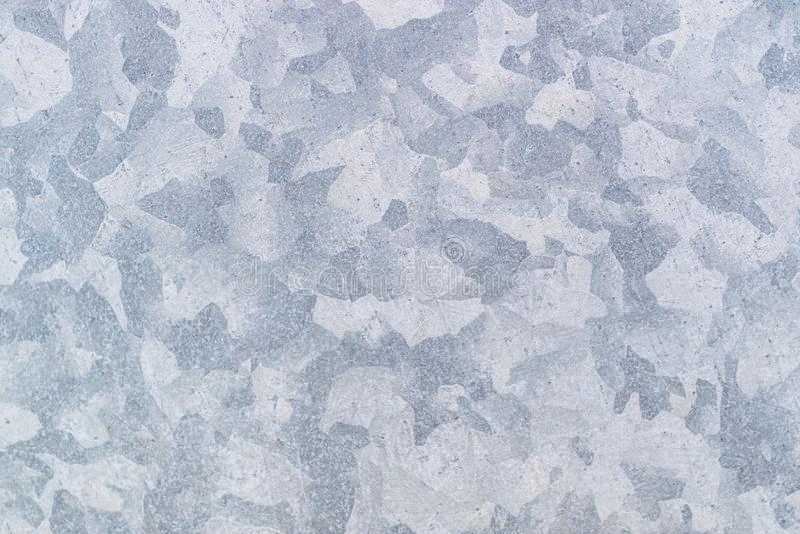 Zinque a textura galvanizada do metal do grunge pode usar-se como o fundo, fundo cinzento foto de stock royalty free