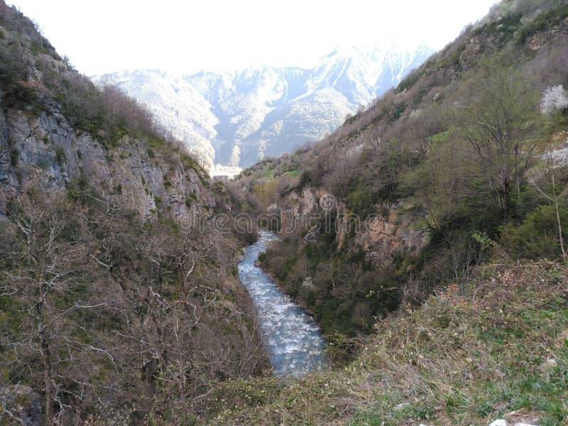 Zinqueta river, pyrinees royalty free stock image