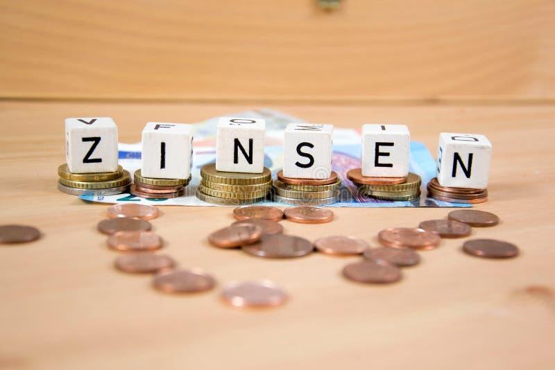 Zinsen stockfoto