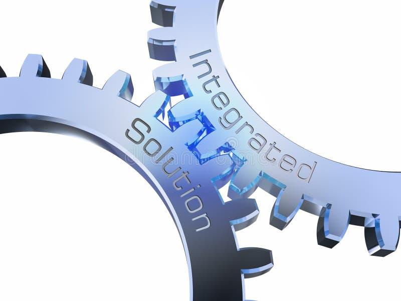 Zintegrowany rozwiązanie na gearwheels royalty ilustracja