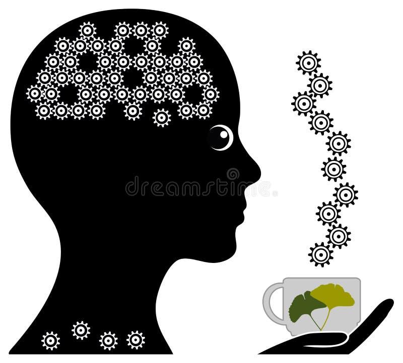 Ziołowa herbata dla pamięci royalty ilustracja