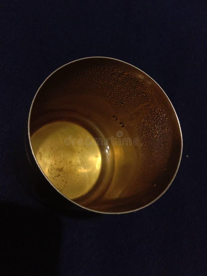 Ziołowa herbata w stalowym tumbler zdjęcie stock