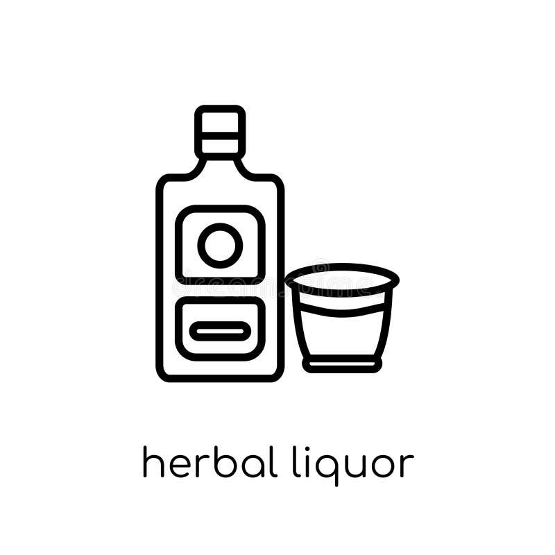 Ziołowa trunek ikona od napojów inkasowych ilustracji
