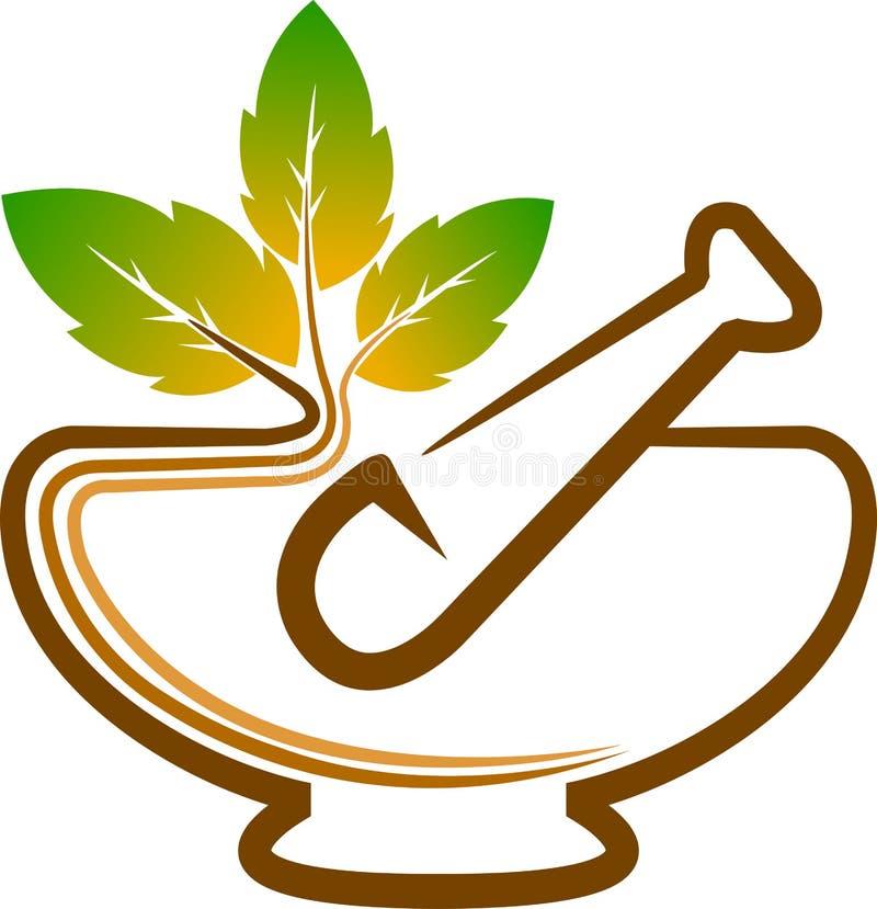 Ziołowy logo ilustracja wektor
