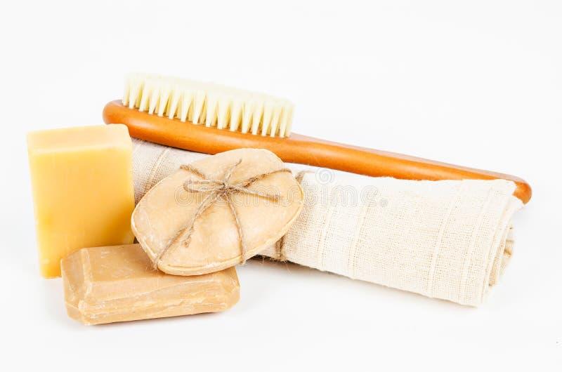 Ziołowy mydła i setu zdroju traktowanie obrazy stock