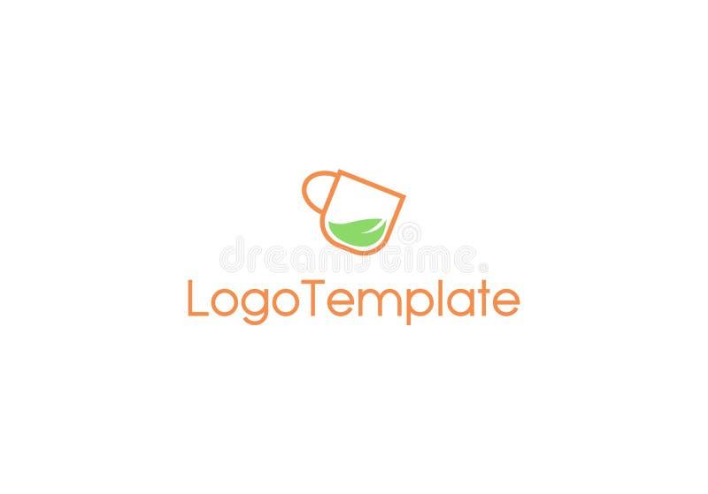 Ziołowy napoju logo szablon fotografia royalty free