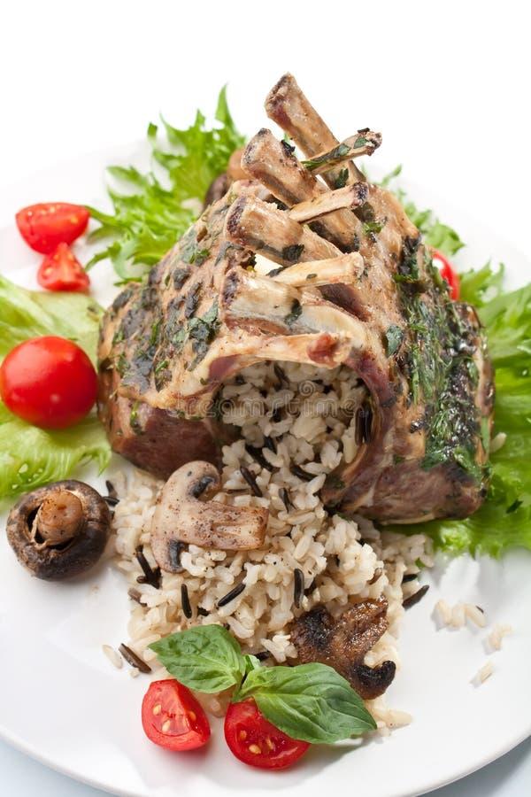 Ziobro z warzywami, Rice i pieczarkami, obrazy stock