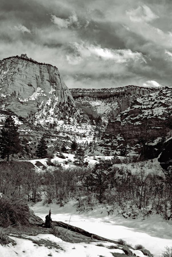 Zion το χειμώνα στοκ φωτογραφίες με δικαίωμα ελεύθερης χρήσης