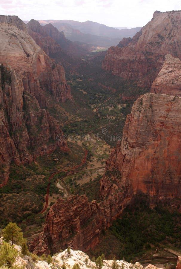 zion долины каньона стоковое изображение