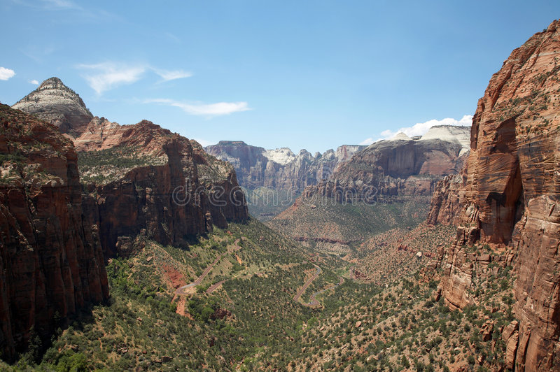 zion каньона стоковые фотографии rf