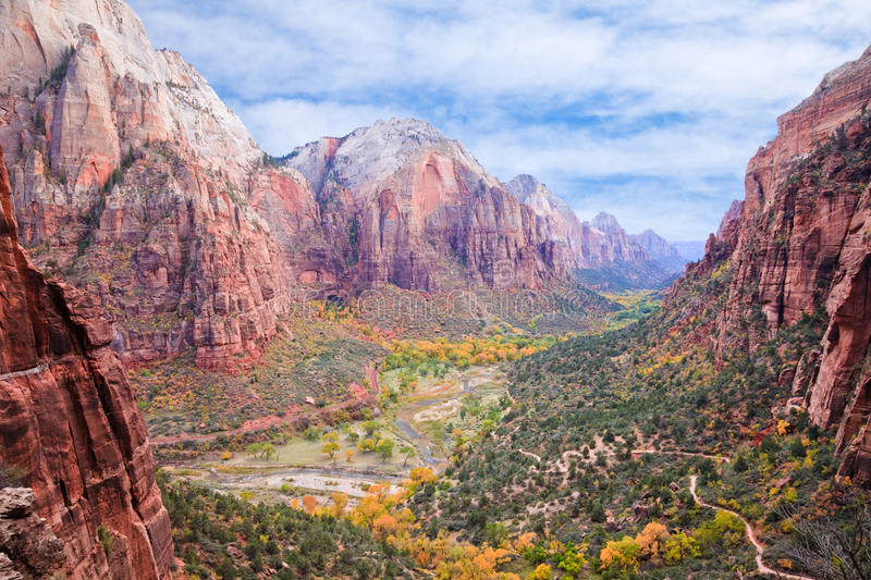 Download Zion Canyon stock photo. Image of aerial, fall, hike - 17422920