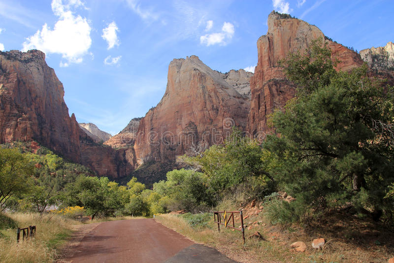 Zion Canyon fotografia stock libera da diritti