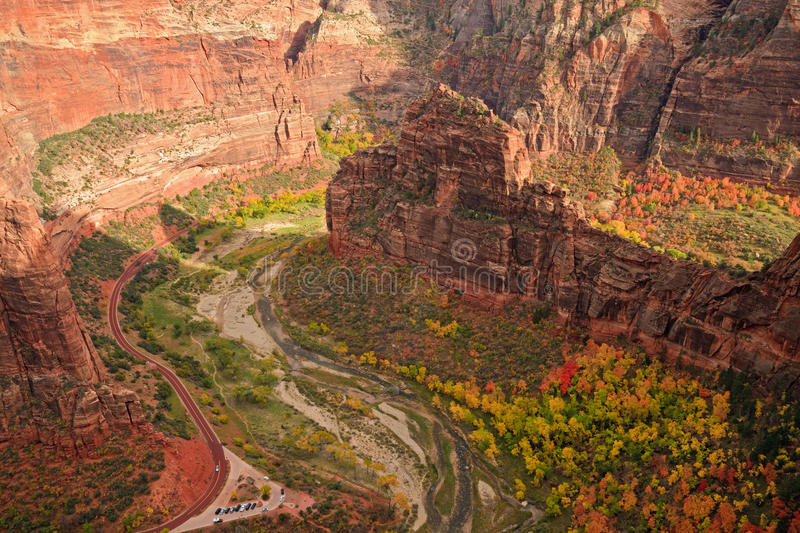 Download Zion Canyon Big Bend stock photo. Image of leaf, rock - 17422898