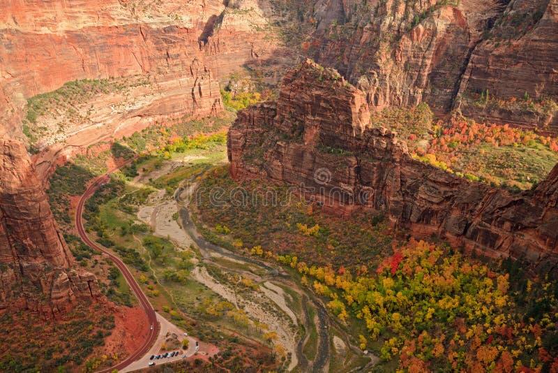 Zion Canyon Big Bend royalty free stock photos