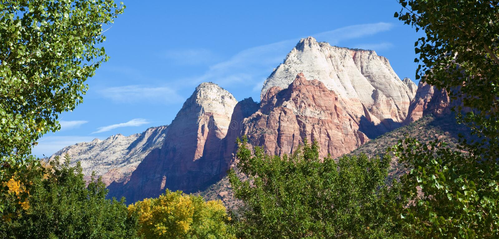 Zion Canyon Peaks Royalty Free Stock Image