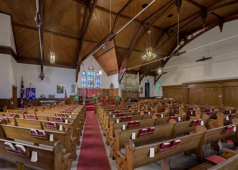 Zion Evangelical Lutheran Church de Lunenburg imagens de stock