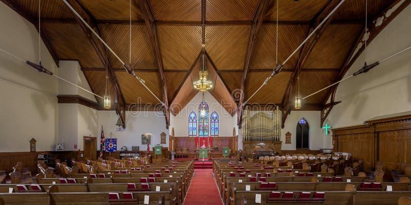 Zion Ewangelicki Luterański kościół Lunenburg zdjęcie royalty free