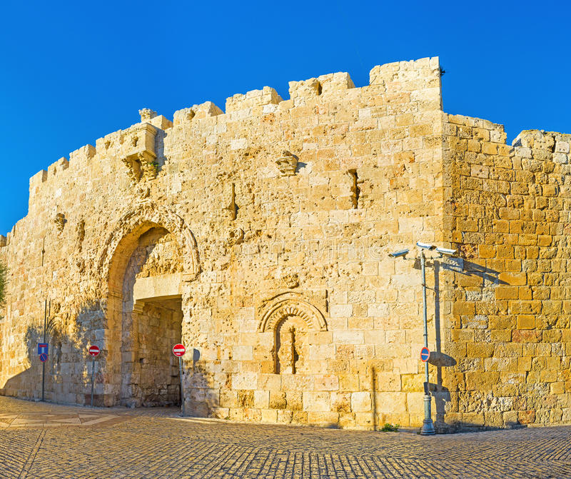 Zion Gate stock afbeelding