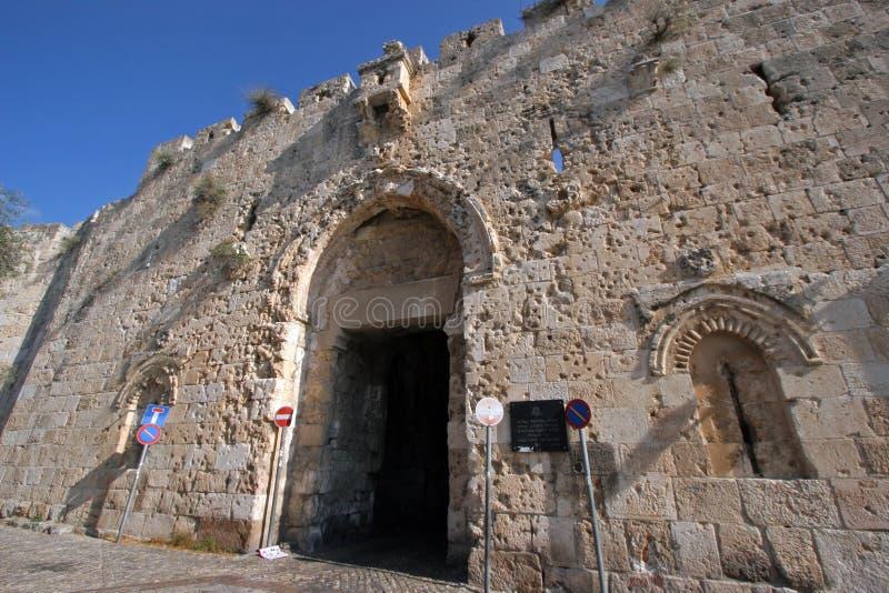 Zion gate Jerusalem. Zion gate, Old City in Jerusalem, Israel stock photos