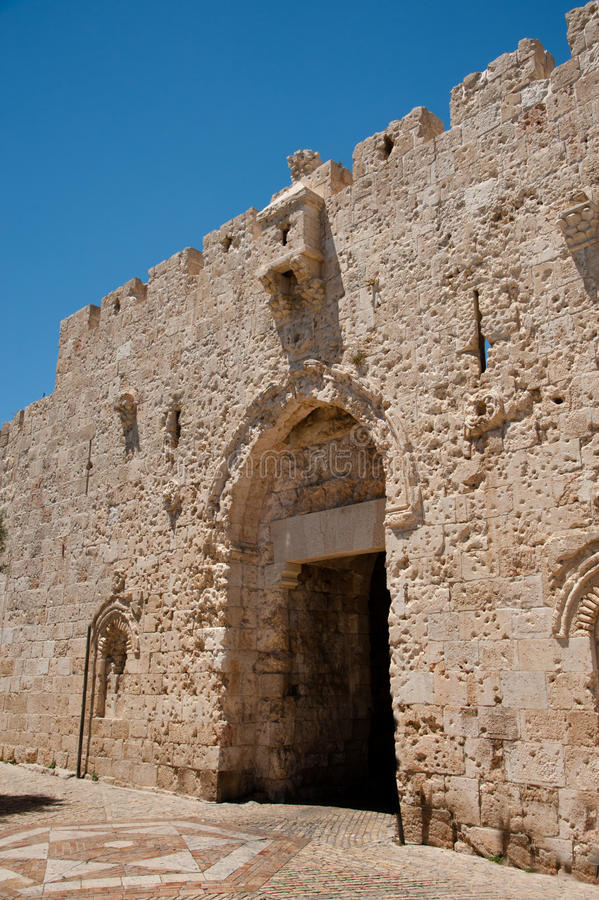 Download Zion Gate In Jerusalem's Old City Royalty Free Stock Photos - Image: 25170608