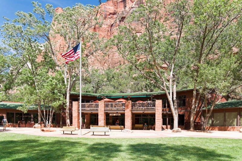 Zion Lodge chez Zion National Park photos libres de droits