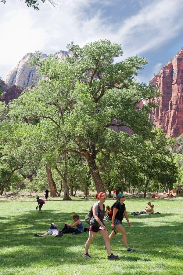 Zion Lodge chez Zion National Park images stock