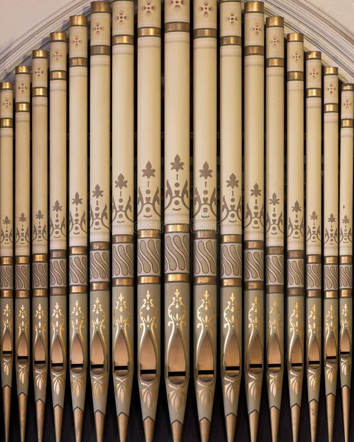 Zion Luterańskiego kościół Ewangelicki fajczany organ zdjęcia royalty free