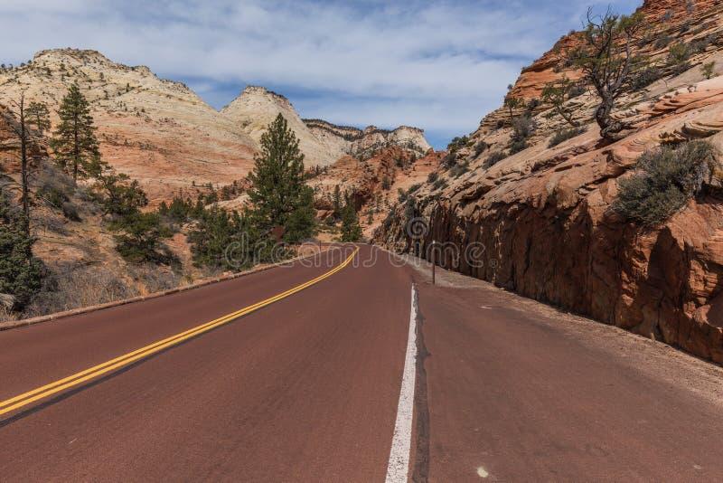 Zion-Mt Carmel Highway, Zion supérieur photographie stock