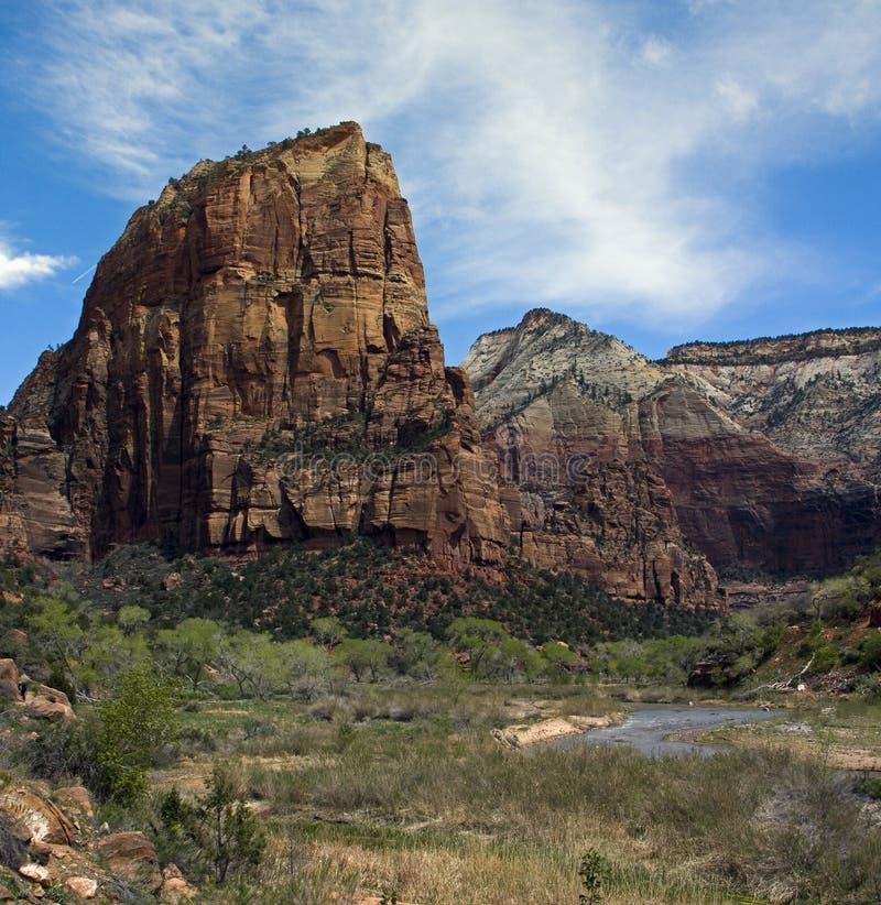 Zion, N.P. Springdale. l'Utah image libre de droits