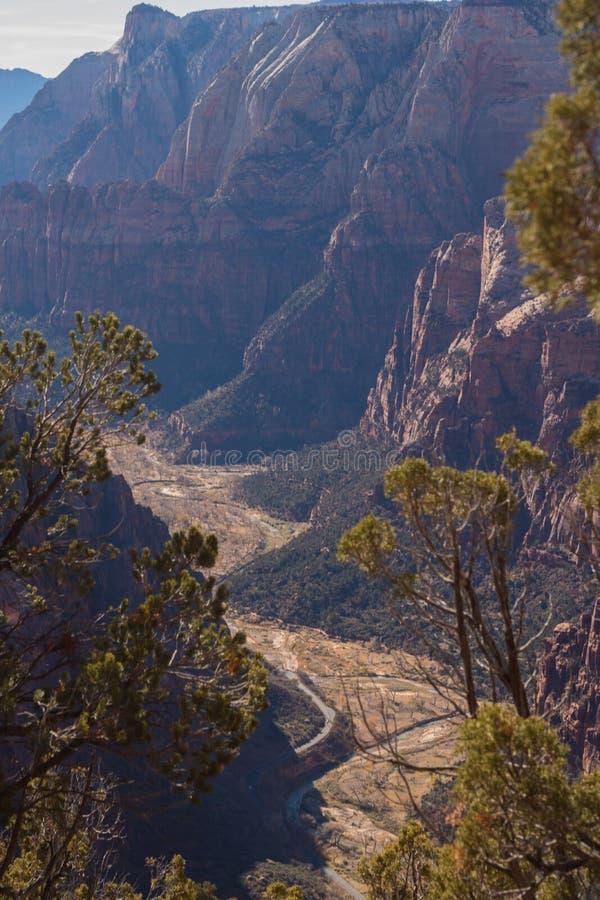 Zion National Park da caminhada fotografia de stock royalty free