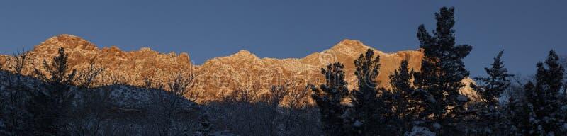 Zion National Park dans la neige 5 photographie stock