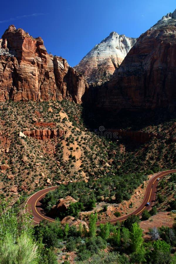 Zion National Park entrando fotografia de stock