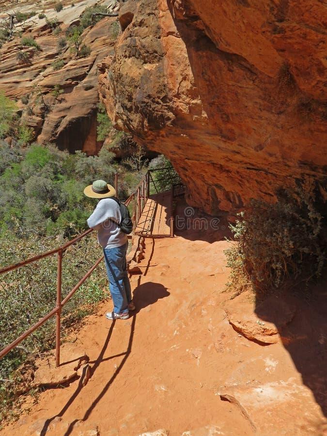 Zion National Park Hiker stock images