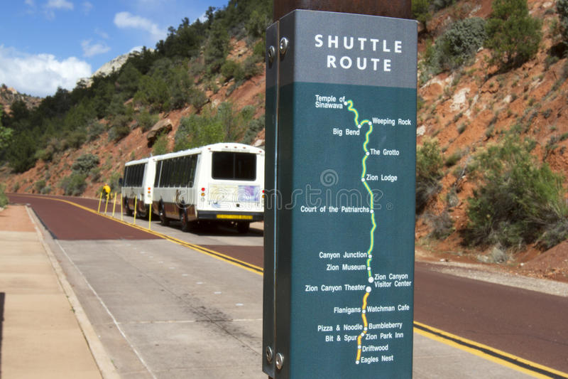 Download Zion National Park Shuttle Bus Editorial Photography - Image: 30984387