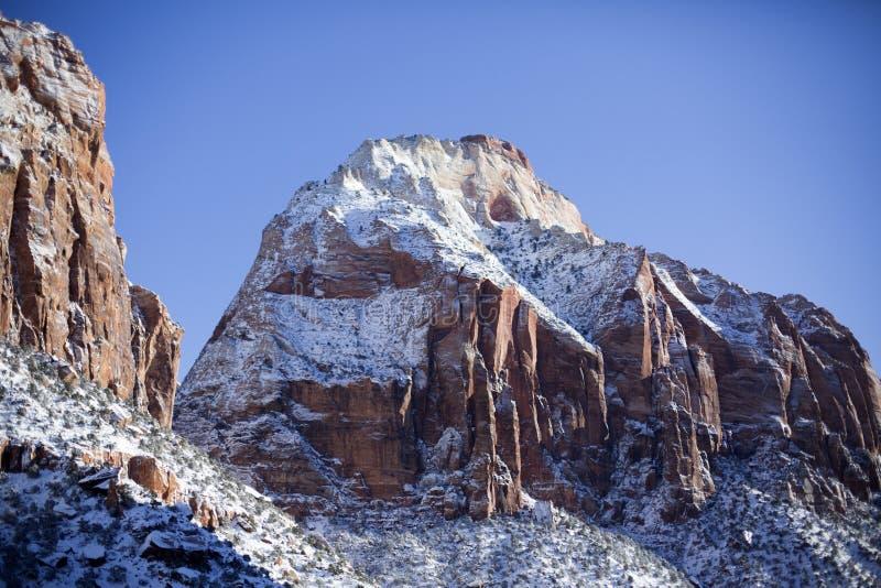Zion National Park in Sneeuw 3 royalty-vrije stock foto