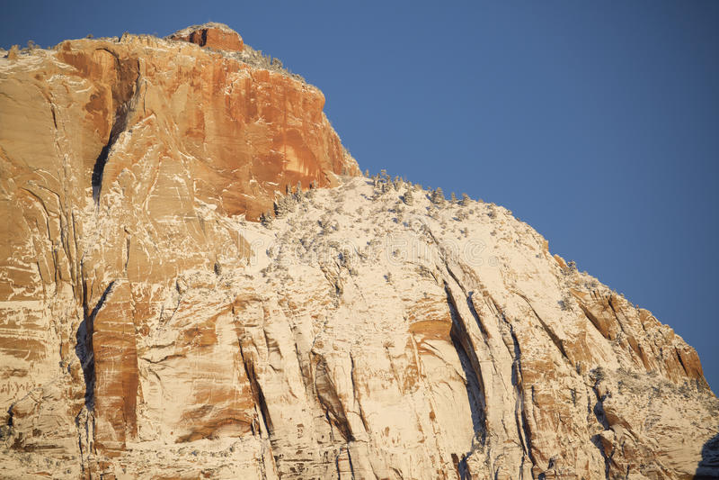 Zion National Park in Sneeuw 4 royalty-vrije stock foto