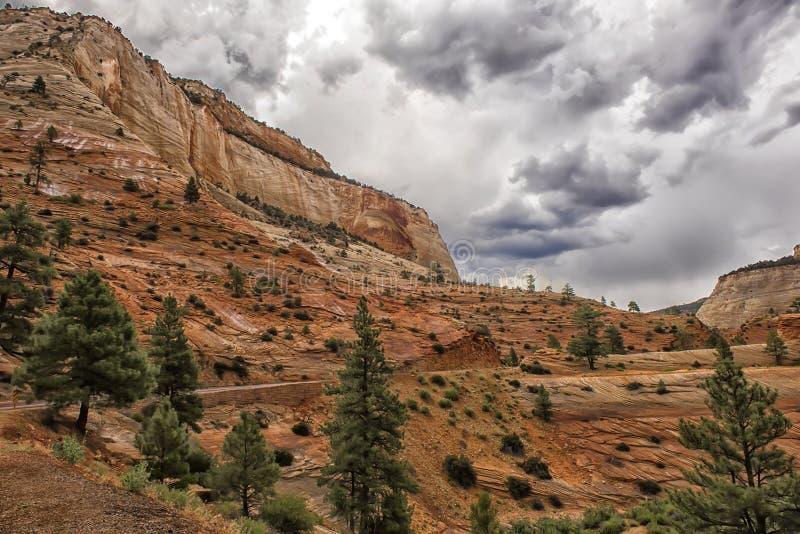 Zion National Park un jour pluvieux photo stock