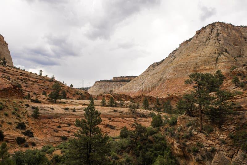 Zion National Park un jour pluvieux images stock