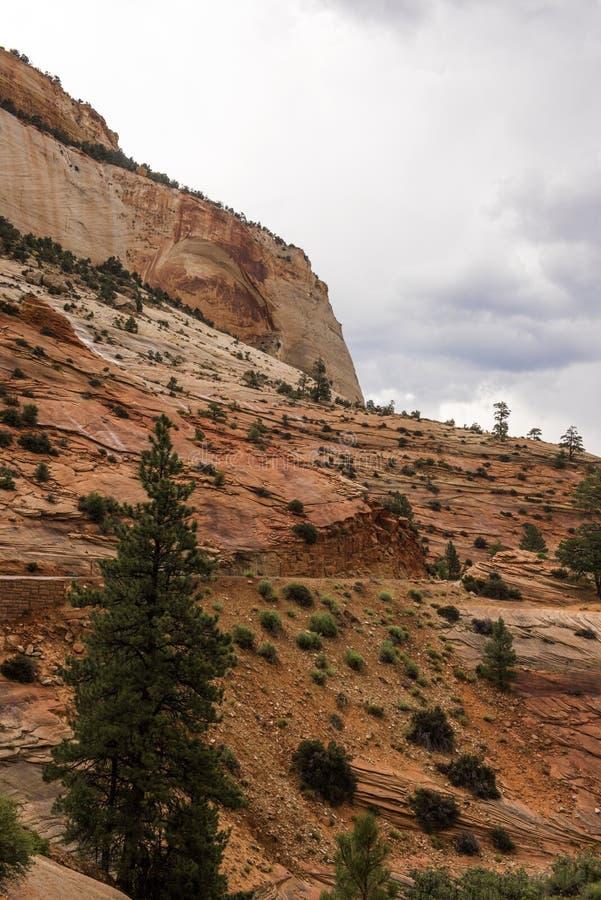 Zion National Park un jour pluvieux photographie stock