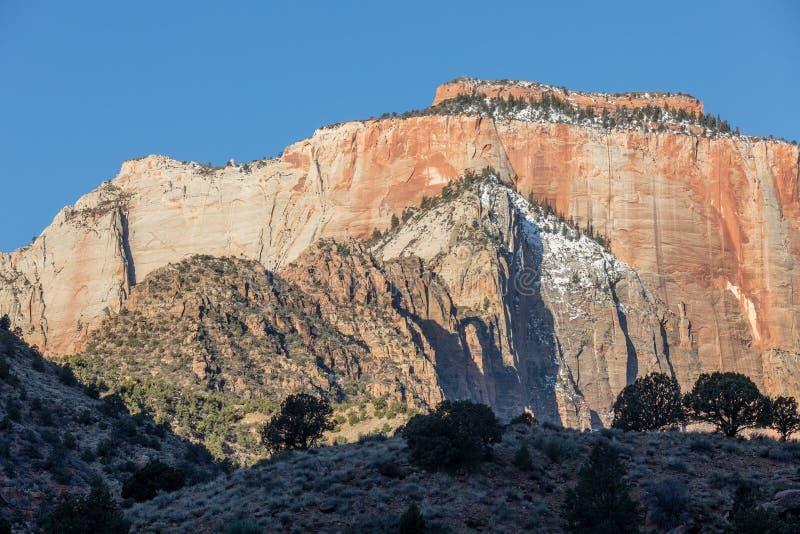 Zion National Park Utah Scene Landschap stock afbeeldingen