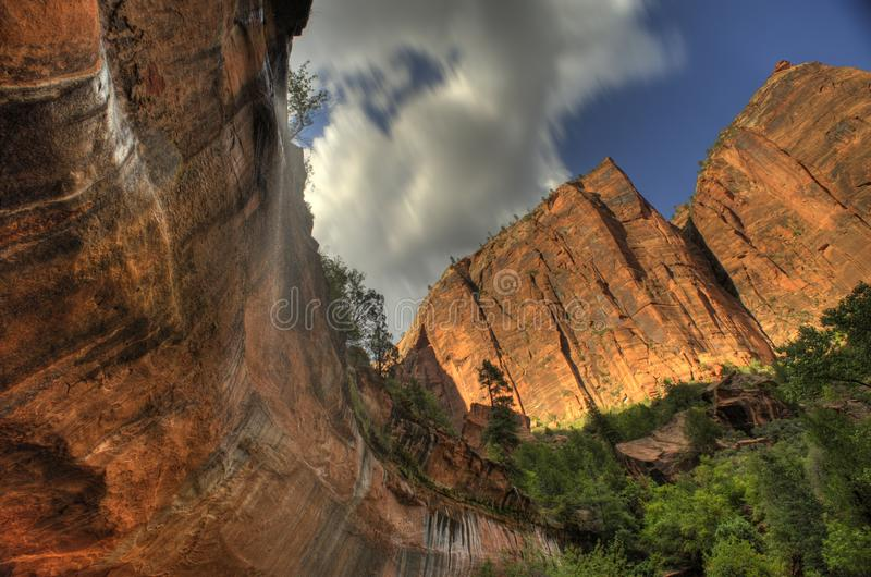 Zion National Park Utah South Amérique occidentale image stock