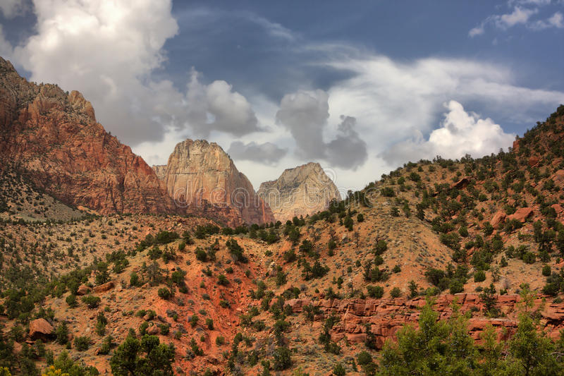Zion park narodowy zdjęcia stock