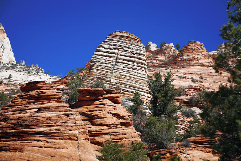 Zion park narodowy, usa obraz royalty free