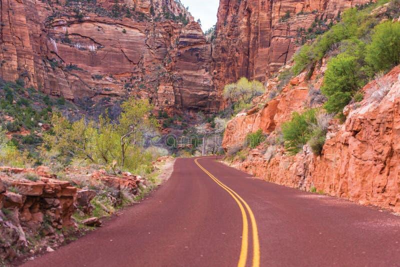 Zion Road scenico immagini stock libere da diritti