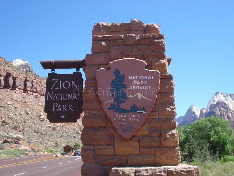 zion Utah parku narodowego fotografia stock