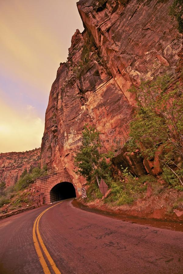 Zion Utah Tunnel lizenzfreies stockbild