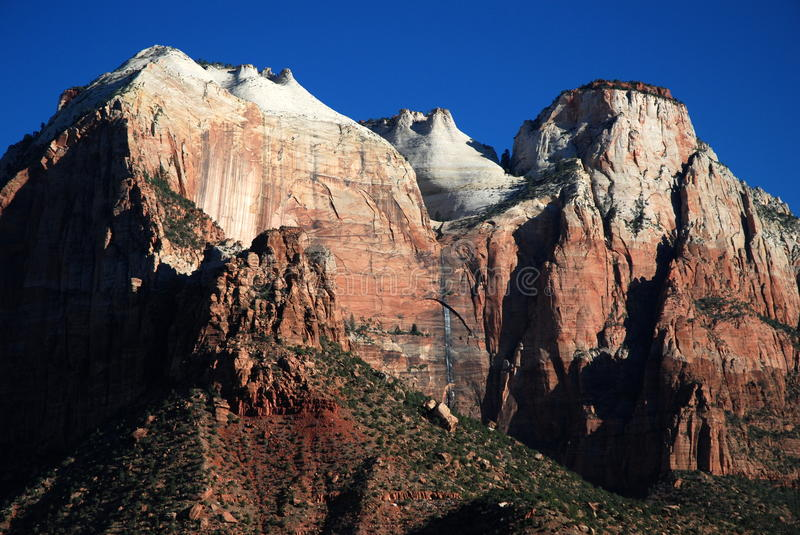 Zion,Utah, USA. West Temple in the Zion Canyon. Zion National Park, Utah, USA royalty free stock images
