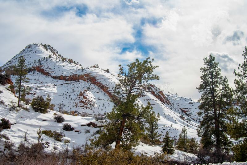 Zion In Winter photographie stock